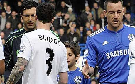 Wayne Bridge refuses to shake hand of John Teryy