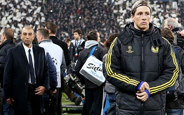 Di Matteo drops Torres for Chelsea and loses his job as manager