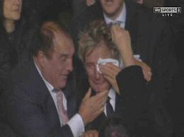 Rod Stewart cries as Celtic beat Barcelona in Champions League