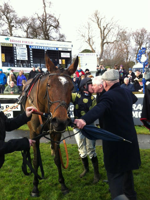 Katie Walsh rides JacksonsLady to victory at Leopardstown
