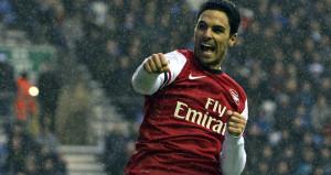 Arteta scores for Arsenal as they beat Wigan 1-0