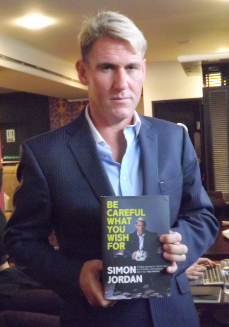 Simon Jordan is interviewed by Vernon Grant about his new book