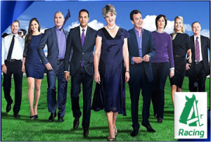 channel 4 racing is relaunched with a new look presentation team and gadgets