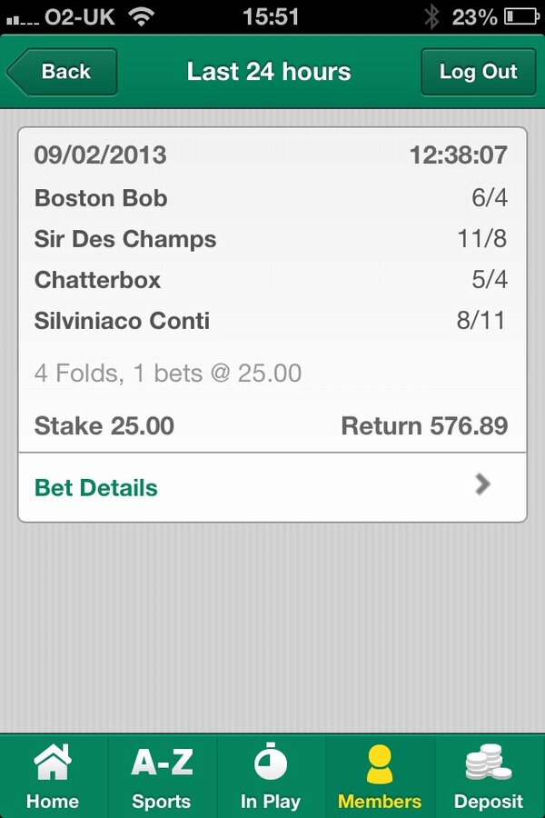 shane wins a 23-1 accumulator from following VG TIPS at the races