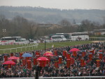 Bookies stands crowds and horses