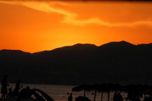Moytil beach sunset