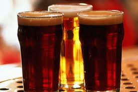 a prile of beers