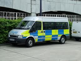 A police mini bus