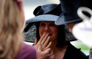 lady jane cecil chokes back the tears after watching riposte win the ribblesdale stakes