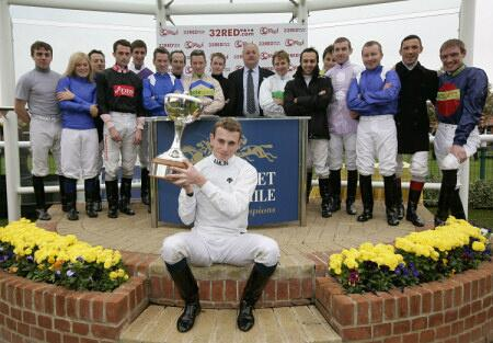 ryan moore gets 2009 champion jockey trophy