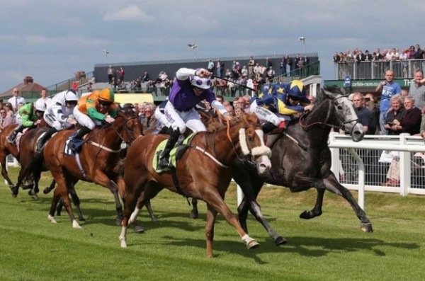 Silvery Moon, far right, wins for members at 10-1
