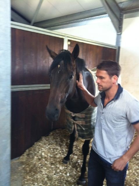 brown panther with breeder Michael Owen photo by him