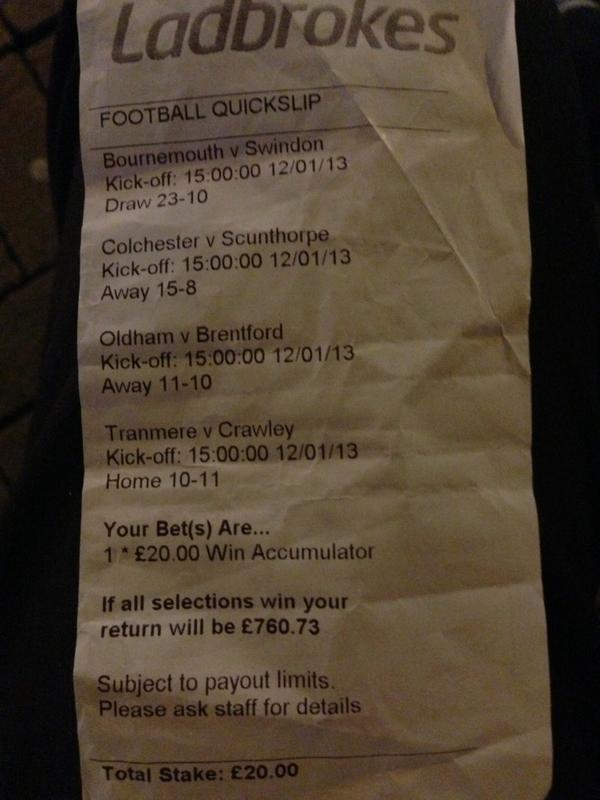 football bet wins