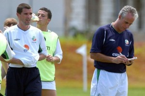Keane the player walked out on Mick McCarthy's Irish squad at the 1990 World Cup
