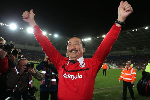 The colour of money. Cardiff City owner Vincent Tan turns blue into red
