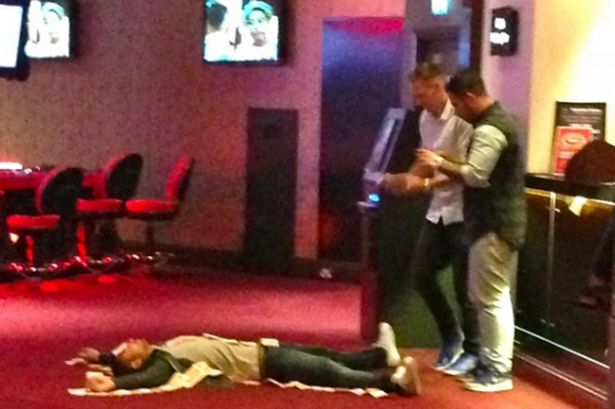 Sunderland players show off their wealth on a night out at a casino