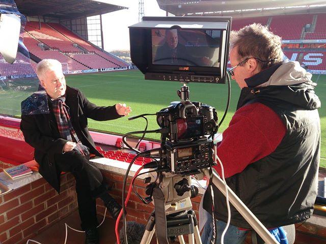 Vernon filming Ian McMillan