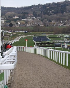 Looking down the Cheltenham Hill