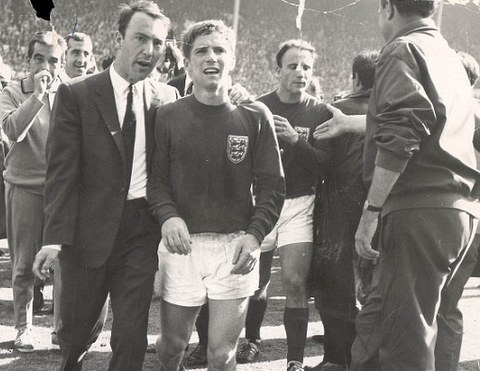 With Alan Ball, World Cup '66