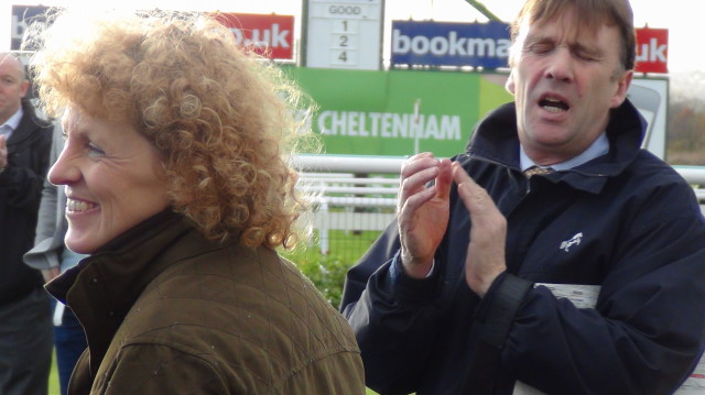 Lucinda Russell with partner and assistant trainer, Peter Scudamore