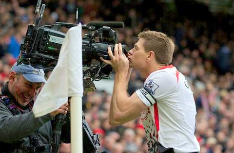 stevie g kisses camera