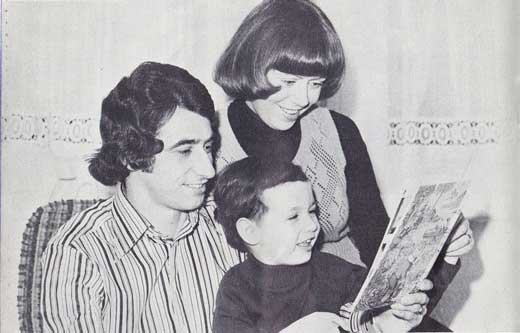 Young Paul with his mother and father, the ex QPR defender, Dave Clement
