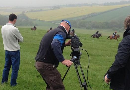 adrian camm filming at charlie hills by gina bryce