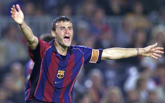 Luis Enrique played 300 times for Barcelona