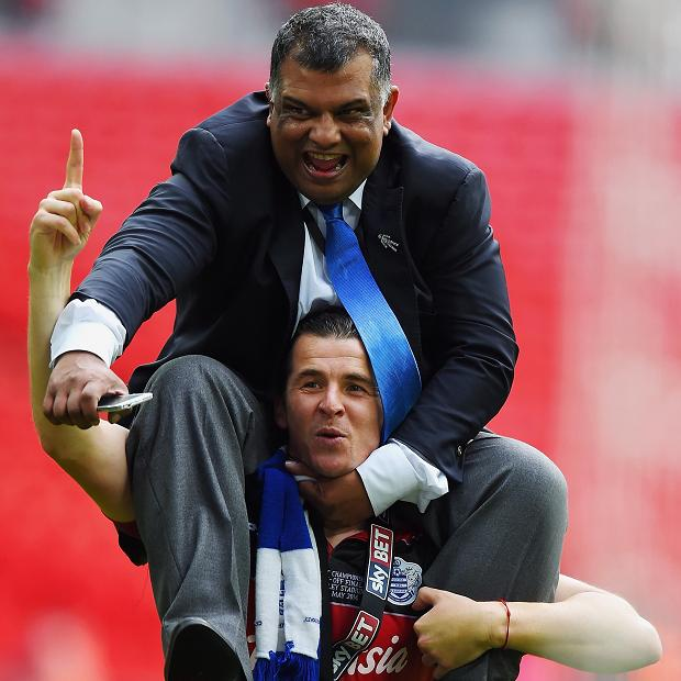 For once a player carries Tony Fernandes on his back ( Joey Barton) rather than the other way around.