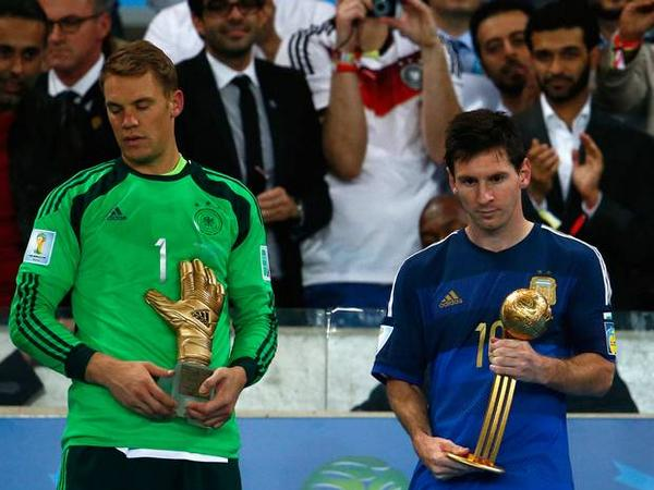 Messi embarrassed to win Golden Ball award