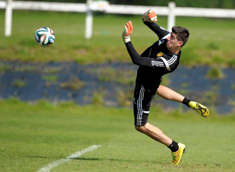 Thibaut Courtois training