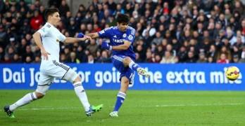 Costa scores at Swansea