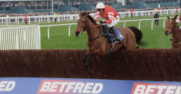 Coneygree en route to victory. Photo: Channel 4