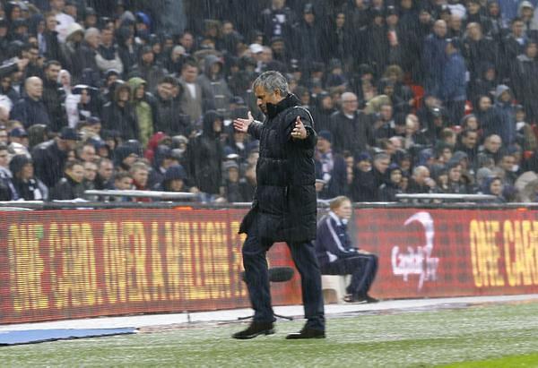 Jose Mourinho. Singing in the rain!
