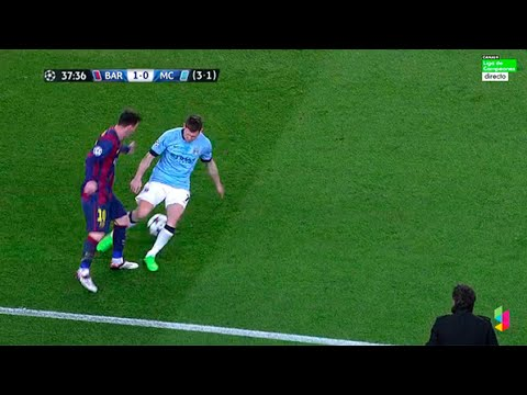 Messi nutmegs James Milner. See you later!