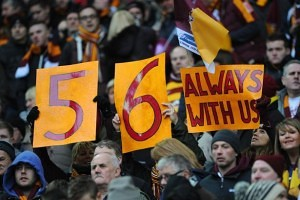 Bradford City fans remember the 56 who died in the fire