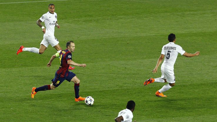 Andres Iniesta. The master of midfield for Barcelona