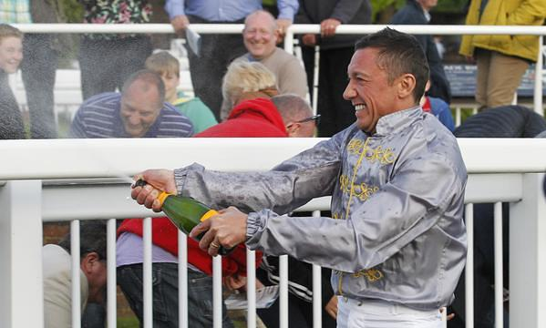Frankie celebrates wins on Hathal to compelete a super Saturday
