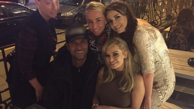 Rebeckah Vaughan and her friends meet Jurgen on a night out in Liverpool