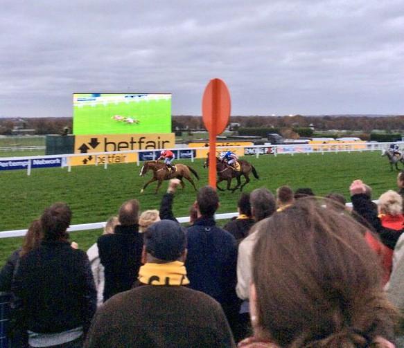 Sire De Grugy, a popular winner. Photo by: Sandown Park Racecourse