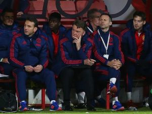 Manchester United and Louis Van Gaal. Not a pretty sight