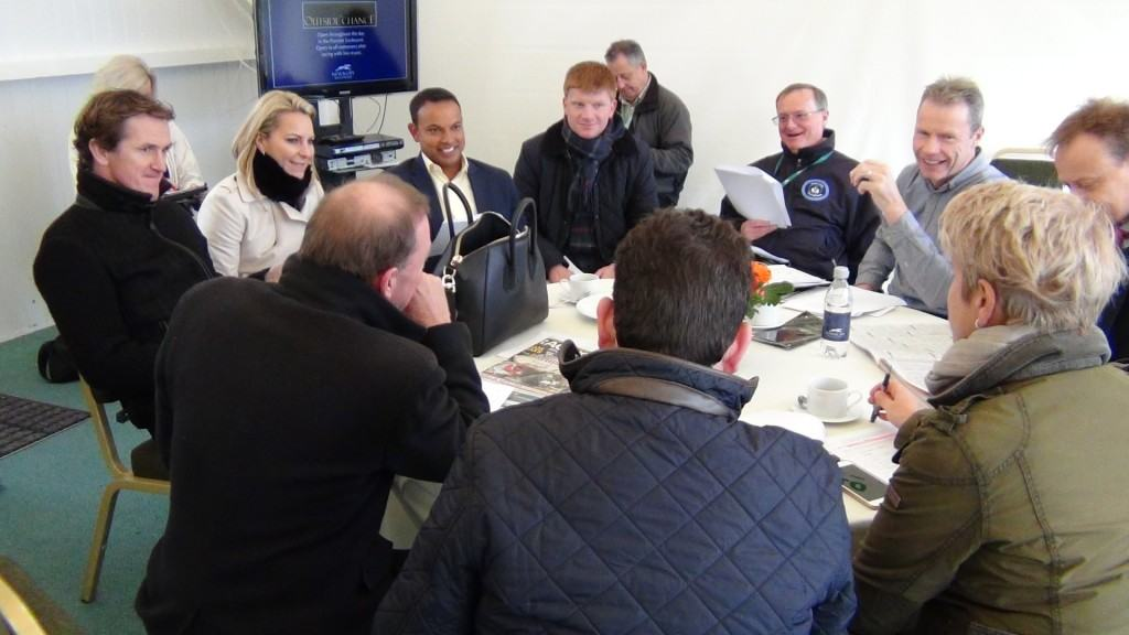 A Channel 4 Racing production meeting