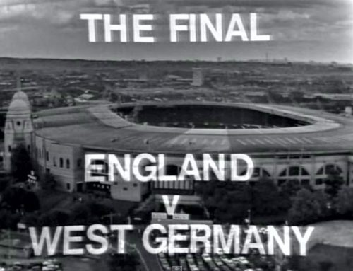 TV covers the 1966 world cup final