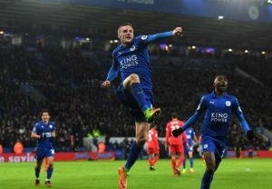 jamie vardy jumps for joy