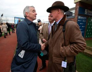 michael 'oleary shakes hand of willie mullins