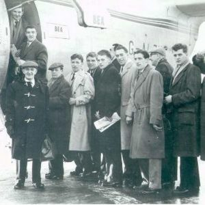 busby babes set off from london to munich