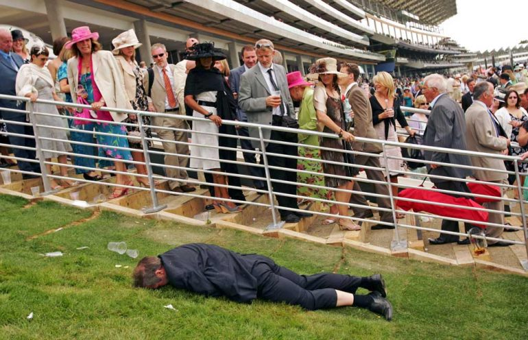 pissed punter at the races