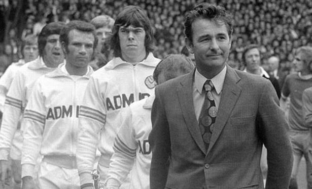 brian clough with leeds at wembley
