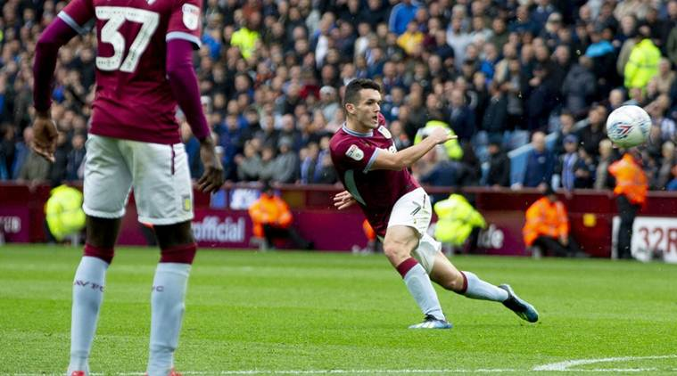 john mcginn scores for aston villa
