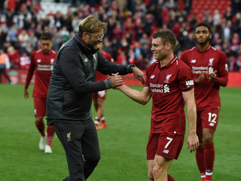 Jürgen Klopp with james milner